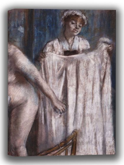 Degas, Edgar: Toilette after the Bath. Fine Art Canvas. Sizes: A4/A3/A2/A1 (003773)